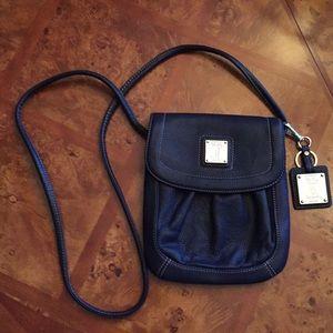 Navy Blue Tignanello crossbody bag